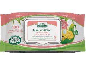 Aleva Naturals Bamboo Baby Sensitive Wipes, 432 Count (6 Packs of 72)
