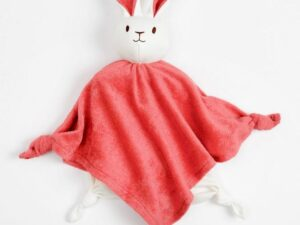 Organic Egyptian Cotton breathable bunny blanket friend lovey toy, 10 t